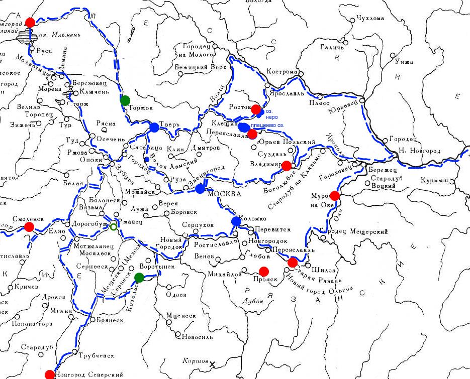 основные торговые пути северо-восточной Руси
