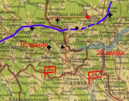 линия фронта в ноябре 41